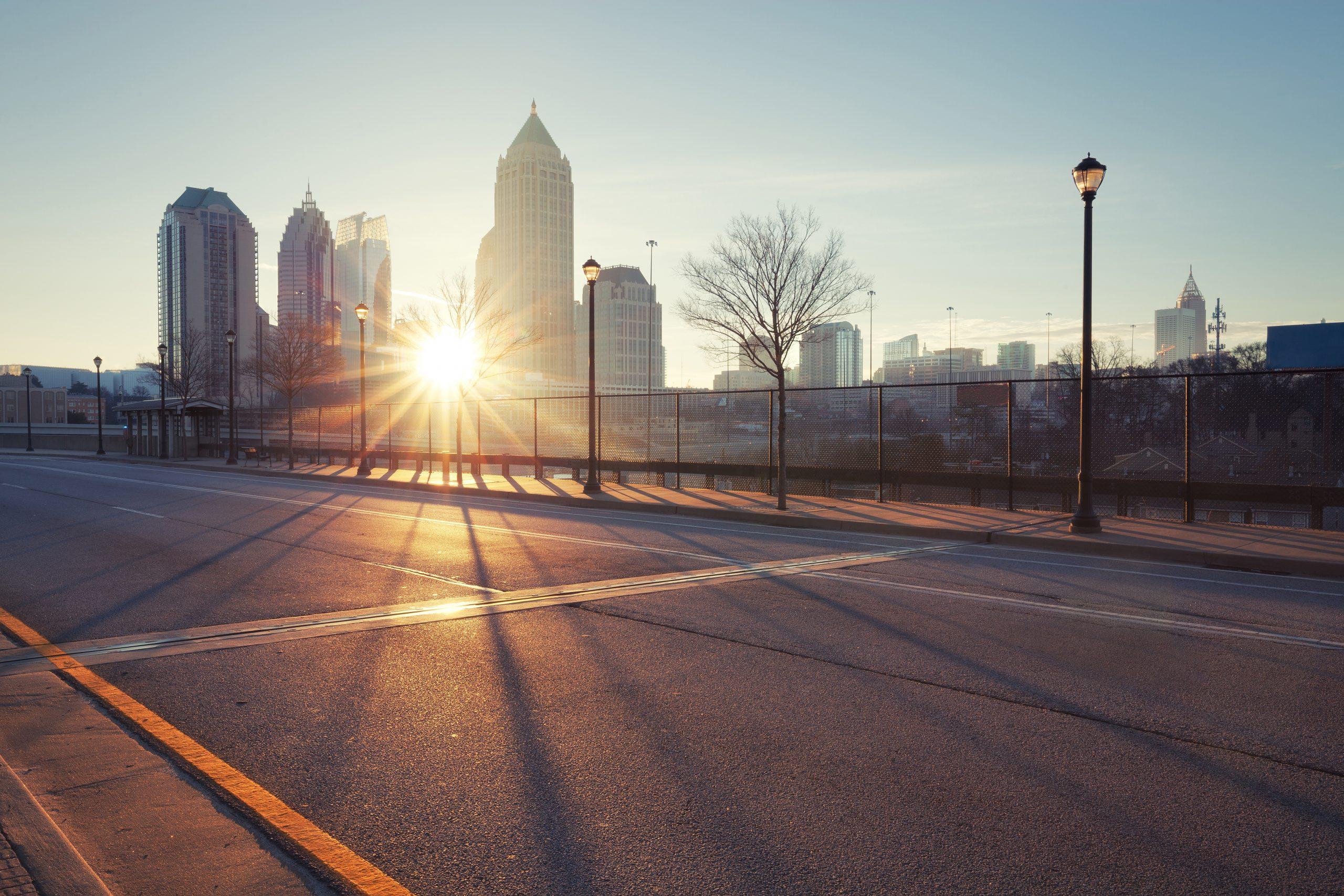 Atlanta street, Georgia, USA